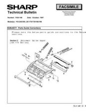 Buy Sharp FAX148 Technical Bulletin by download #138897