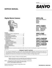 Buy Sanyo Service Manual For VPC-C6E by download #176275