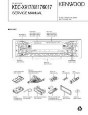 Buy KENWOOD KDC-X915 X815 PS9016R PS9080R Service Manual by download #151907