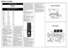 Buy Hitachi C1410R Schematics plus by download #150900