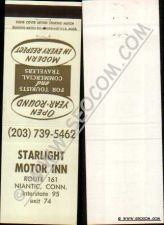 Buy CT Niantic Matchcover Staarlight Motor Inn Route 161 ct_box4~2425