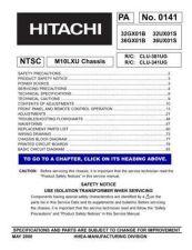 Buy HITACHI 32GX01B USA Service Manual by download #163277