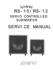 Buy INFINITY RS-10 SUB SM Service Manual by download #151438