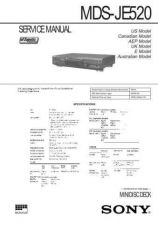 Buy SONY MDS-JE520 SERVICE CDC-1409 by download #159578