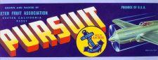 Buy CA Exeter Fruit Crate Label Pursuit Exter Fruit Association California Fru~23