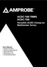 Buy Amprobe ACDC100 User Instructions Operating Guide by download Mauritron #194180