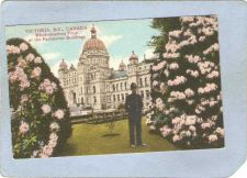 Buy CAN Victoria Postcard Rhododendron Time At The Parliament Buildings can_bo~223