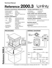 Buy INFINITY REFERENCE 2000-3 TS Service Manual by download #147655