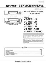 Buy SHARP VC-M301 M311 M321GY Service Data by download #133949