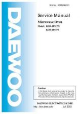 Buy Daewoo Model KOR-1B4H9S,KOR-1B5H9S02 Manual by download #168639