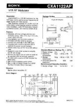 Buy INTEGRATED CIRCUIT DATA CXA1122APJ Manual by download Mauritron #186734