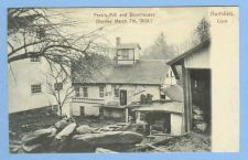 Buy CT Northfield Pecks Mill And Storehouses Burned March 7th 1903 View Of Old~648