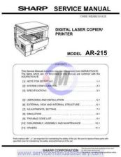 Buy Sharp AR235-275 SM GB Manual by download #179388