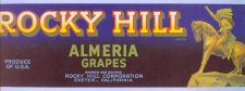 Buy CA Exeter Fruit Crate Label Rocky Hill Brand Almeria Grapes Grower and Shi~31