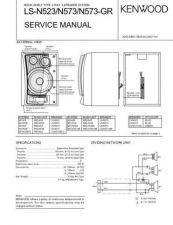 Buy KENWOOD LS-N523 N573 N573GR Technical Info by download #148289