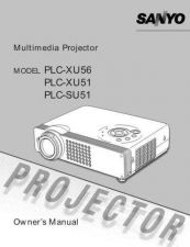 Buy Sanyo PLCXU58(OM5110719-00) Manual by download #175058