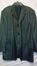 Buy Big Tall Mens Zanetti Italian Silk Wool Black Plaid Coat Blazer Jacket Size 44