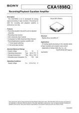 Buy MODEL CXA1898 Service Information by download #124019