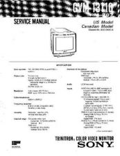 Buy SONY GVM-1311Q-5K Service Manual by download #166917
