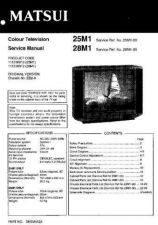 Buy Sanyo 25M1 SM-Only Manual by download #172631