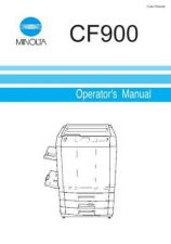 Buy Minolta CF900 OPS MANUAL Service Schematics by download #137021