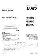 Buy Sanyo Service Manual For VHR-777E Manual by download #176195
