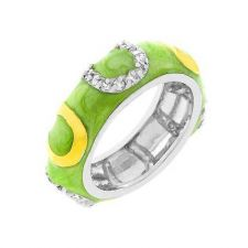 Buy Light Green Enamel Horseshoe Ring (size: 05)