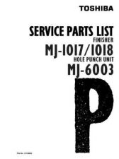 Buy Toshiba MJ1017 18 PARTS Service Manual by download #139327