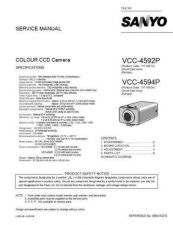 Buy Sanyo VCC-4374(Owners Manual) Manual by download #177352
