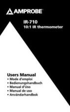 Buy Amprobe IR-500 User Instructions Operating Guide by download Mauritron #194384