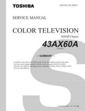 Buy TOSHIBA 43AX60A Service Schematics by download #159983