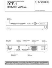 Buy KENWOOD DTF-1 Service Data by download #132712