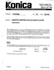 Buy Konica 39 WARPED SORTER CONVEYANCE Service Schematics by download #136154