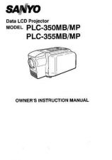 Buy Sanyo PLC-250PB Operating Guide by download #169467