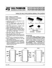 Buy SEMICONDUCTOR DATA 4051, 4052, 4053J Manual by download Mauritron #186900