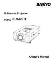 Buy Sanyo PLV-Z1 Manual by download #175111