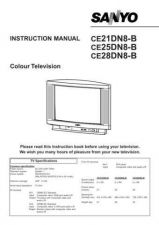 Buy Sanyo CE21DN8-B Manual by download #172938