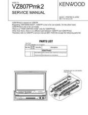 Buy KENWOOD VZ807Pmk2 Service Data by download #132823
