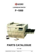 Buy KYOCERA F-1000 PARTS MANUAL by download #152123
