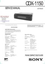 Buy MODEL SONY CDX1150 Service Information by download #124532