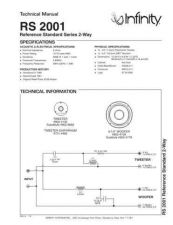 Buy INFINITY RS 2001 TS Service Manual by download #147673