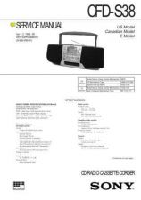 Buy SONY CFD-S38 Manual by download #181422