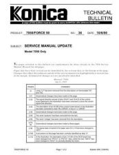 Buy Konica 36 SERVICE MANUAL UPDATE Service Schematics by download #136136