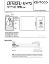 Buy KENWOOD LS-M52 M72 Technical Info by download #152000