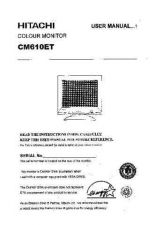 Buy Sanyo CM610ET DE Manual by download #173479