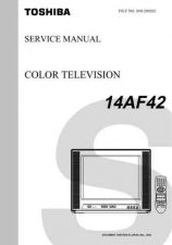 Buy TOSHIBA 14AF42 SVCMAN TV SERVICE INFO by download #129085