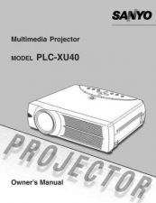 Buy Sanyo PLCXU55A Manual by download #175053
