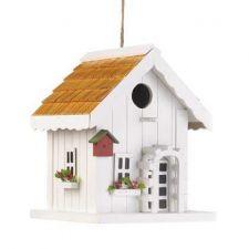 Buy White Trellis Birdhouse