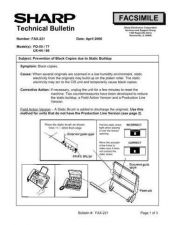 Buy Sharp FAX221 Technical Bulletin by download #138952