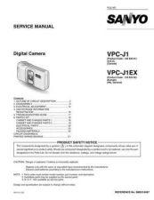 Buy Sanyo VPC-G1 Manual by download #177555